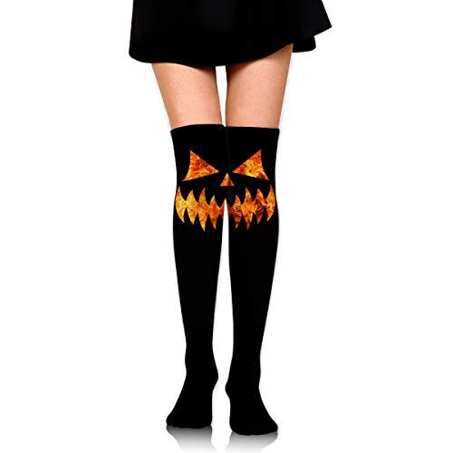 Halloween Scary Pumpkin Face Womens Fashion Knee High Socks Stocking Compression Socks ()