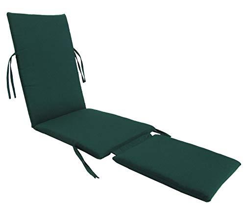 kingrattan.com Made in USA Steamer Chair Cushion Sunbrella Canvas Forest Green ()