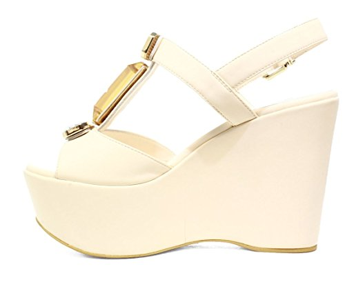 LUCIANO BARACHINI6321G BUTTER BLACK WOMEN'S SHOES SANDALS WEDGE, 2016 NEW COLLECTION SPRING SUMMER 6321
