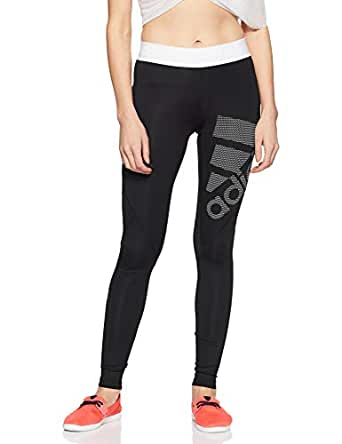 adidas Women's DH4437 Alphaskin Sport Long Length Tight, Black/White, XS