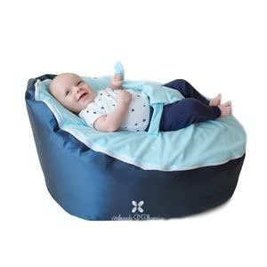 BayB Brand Baby Bean Bag, Filled, Blue
