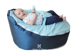 BayB Brand Baby Bean Bag, Filled, Blue for sale  Delivered anywhere in USA