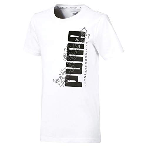 Bianco Sports Tee Misure shirt Active 9 Puma Colore Jr T 10 XqTH7IUxw0