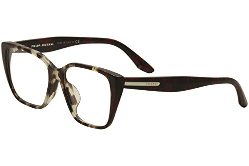 Prada PR08TVF Eyeglass Frames U6K1O1-53 - Spotted OP Brown/Spotted Red ()