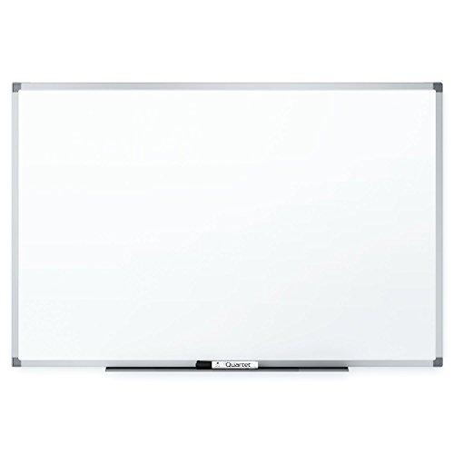 Aluminum Frame Porcelain - Quartet Magnetic Whiteboard, 6 x 4 Feet, Silver Aluminum Frame, Standard DuraMax Porcelain (85517)