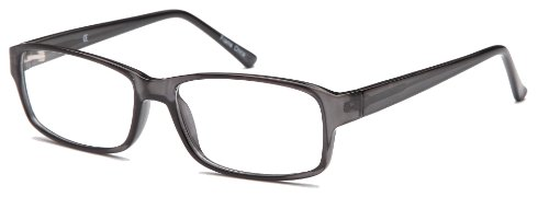 Mens Square Prescription Eyeglasses Frames Size 55-17-140-35 in Gunmetal