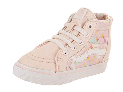 Vans Toddler SK8-Hi Zip (Glitter Pegasus) Heavenly Pink/True White VN0A32R3U07 Toddler Size 8 ()