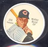 1962 salada tea coins (Baseball) Card# 208 walter bond of the Cleveland Indians Ex Condition