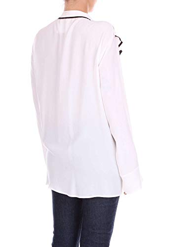 D8pm81c22white Bianco Blusa Seta 8pm Donna wExqFX7EU