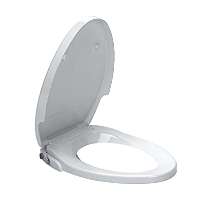 American Standard 5900A05G.020 Aqua Wash Non-Electric Bidet Seat for Elongated Toilets, 14.9 x 3.6 x 21.1 inches, White