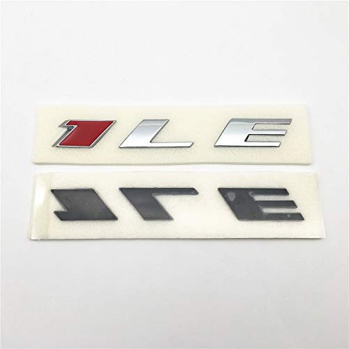2pcs 1LE Car ABS 3D Letter Custom Rear Trunk Or Fender Side Badge Nameplates Writing Emblem Stickers Chrome Red