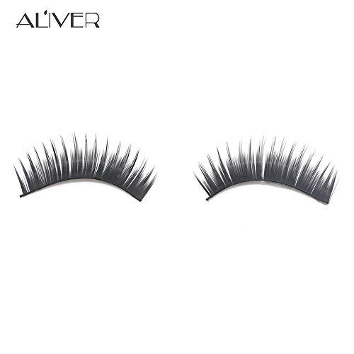NewKelly 1 PairThick Long CrossFalse Eyelashes Black Band Fake Eye Lashes Beauty Makeup Party (B)
