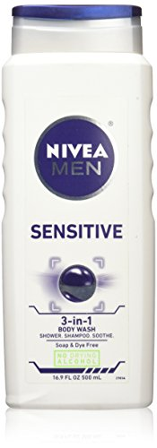 Nivea for Men Body Wash, Sensitive, 16.9 oz