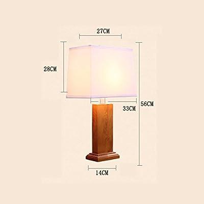 LOFAMI Madera decorativa lámparas de mesa, lámparas rústicas, de ...