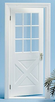 Dollhouse COLONIAL CROSSBUCK DOOR NO/MULLION by Superior Dollhouse - Crossbuck Door