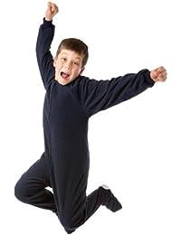 Big Feet Pjs Boys & Girls Junior Navy Fleece Kids Footed Pajamas Onesie Sleeper