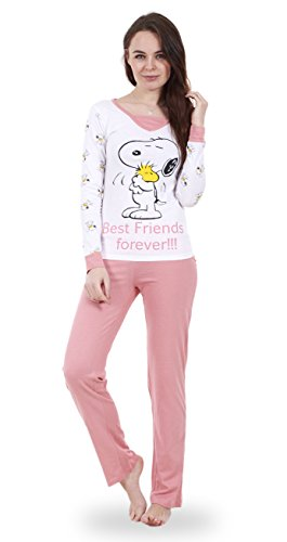 a4ec3a2331 Snoopy Ladies Long Sleeve Pyjama Set Womens Mickey Minnie Mouse PJ s  Nightwear - Buy Online in Oman.