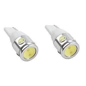 GD t10 luz 2.5W 200-220LM blanco bombilla LED para lámparas de coches (2-pack, dc 12v)