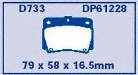 EBC Brakes DP61228 6000 Series Greenstuff Truck and SUV Brake Pad