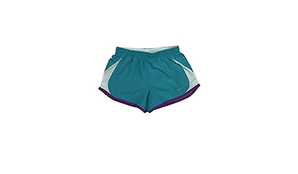 Nike Girls Dri-Fit Stay Cool Tempo Running Shorts w//Brief Liner Green New