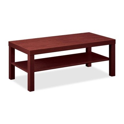 Contemporary Mahogany Coffee Table (HON BL Series Coffee Table, Flat Edge Profile, 42