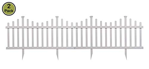 - Zippity Outdoor Products ZP19001 Picket Fence, 1 x Pack of 2, White (Renewed)