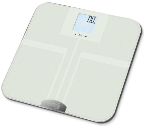 EatSmart Precision GetFit Digital Body Fat Scale w/ 400 lb. Capacity & Auto Recognition Technology (White)