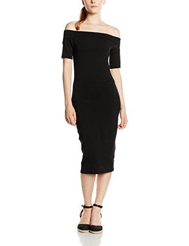 Only Onllive Love Off Shoulder Calf Dress, Vestido para Mujer Negro