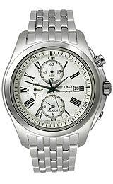 Seiko Alarm Chronograph White Dial Men's watch #SNAE29P1