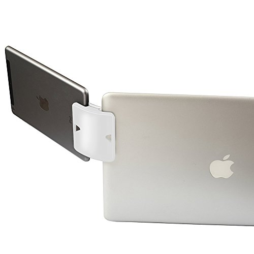 Daite Dual Display Side Mount Clip, Tablet & Phone Mountie Side, Dock to Laptop or UltraBook (White)