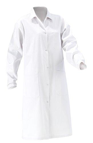 Unbekannt - Bata de laboratorio - cuello en V - Manga Larga - Mujer blanco