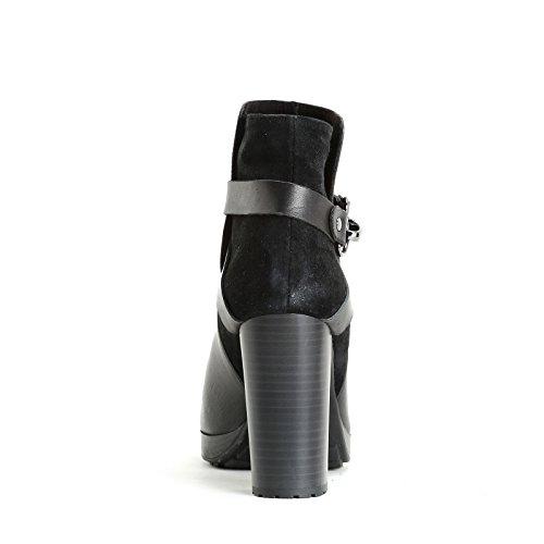Alesya amp;Scarpe mit mit mit Material Absätzen Doppeltem Absatz Scarpe Karabiner cm 9 Aus Stiefeletten r6Znrwx