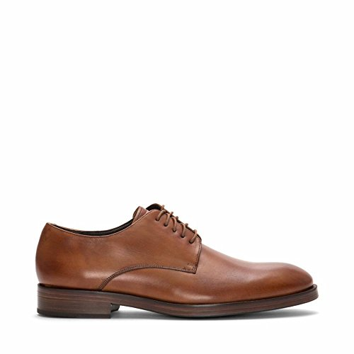 Cole Haan Lace Oxfords - Cole Haan Men's Harrison Grand Plain Toe Derby Shoes, British Tan/Dark Natural, 13 D(M) US