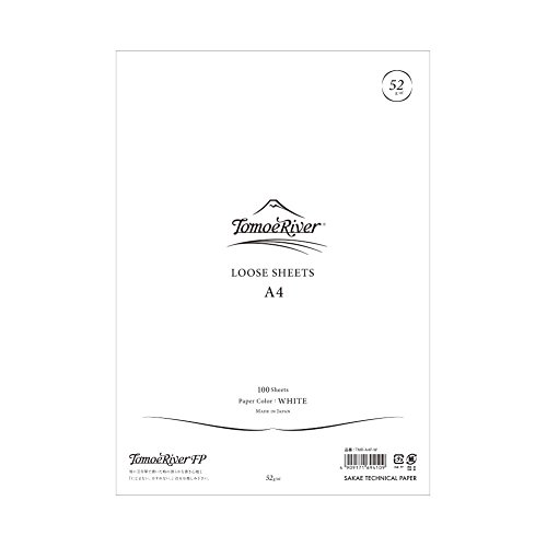 "Tomoe River FP Loose Sheet, 8.27 x 11.7"", 100 Sheets/Pack, White (TMR-A4P-W)"