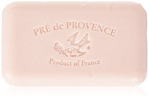 (Pre de Provence French Soap Bar with Shea Butter, 150g - Peony)