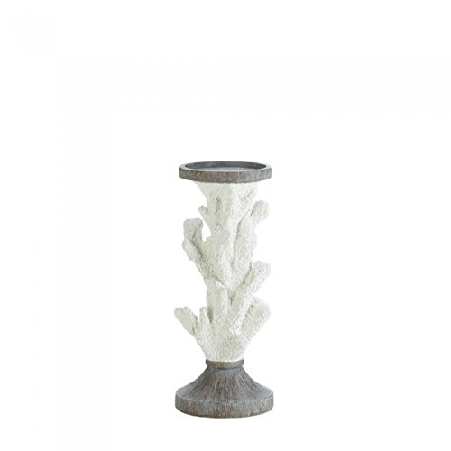 Christmas Tablescape Decor - Gallery of Light medium coral pillar candle holder