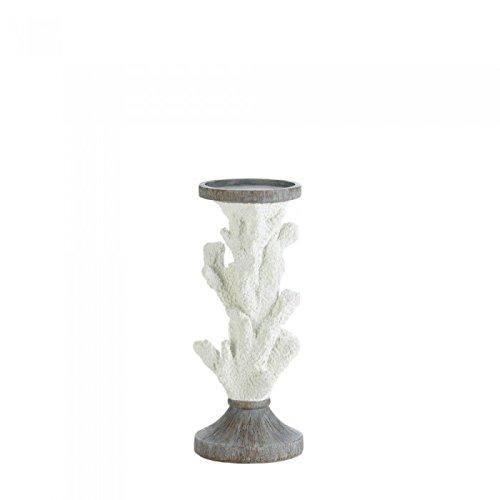 Christmas Tablescape Decor - Gallery of Light medium coral pillar candle holder