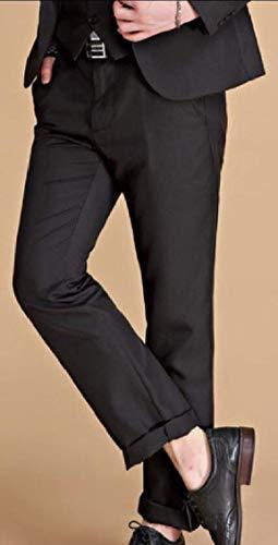 Tuxedo Élégant Longues couleur Vestes Blazer Décontracté M Schwarz Manches Moderne Taille Veste Tailleur Homme TfFxwqa