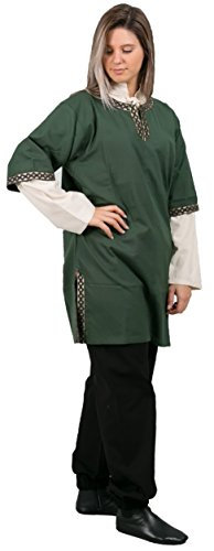 Live From E Halloween Costumes (EDGAR Medieval Tunic by CALVINA COSTUMES -Unisex - Made in TURKEY, S-Green)