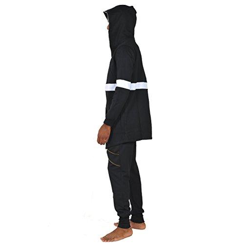 Sweatshirt Maniche Senza Da Gotico Pizoff Uomo Oversize Y1196 Felpa Poncho Zxd1d