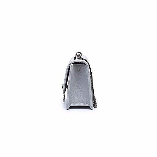 die mode - kette handtasche, neue wilde beutel, umhängetasche 21*15*8cm,hellgrau hellgrau