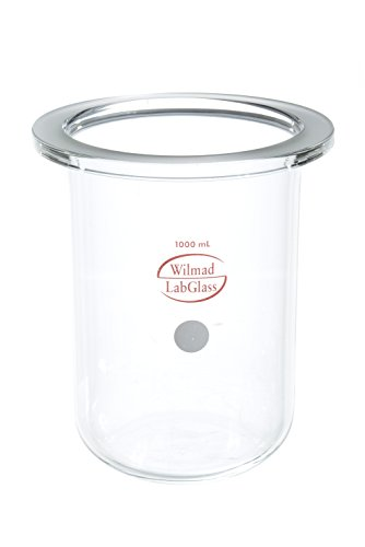 (Wilmad-LabGlass LG-8080-102 Cylindrical Reaction Vessel, Flat Flange, 1L)