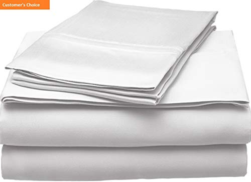 Mikash New Soft 300 Thread Count Full Sheet Set, 100% Modal from Beech, Solid, White | Style 84601381