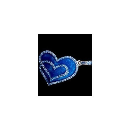 Ocean Crystal Heart flash Necklace