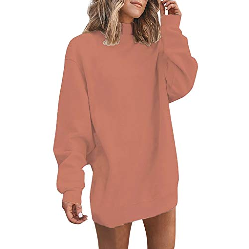 [해외]Meikosks Women`s Turtleneck Pullover Solid Blouses Long Sleeve T Shirt Oversized Sweatshirts / Meikosks Women`s Turtleneck Pullover Solid Blouses Long Sleeve T Shirt Oversized Sweatshirts Brown