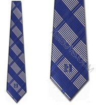 Duke Blue Devils NeckTies Woven Plaid Tie