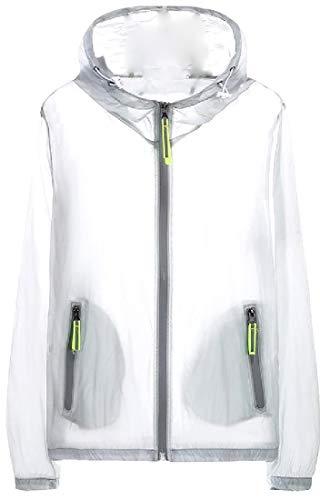Howme Hommes Beachwear Skinsuits Écran Solaire Complet Zip Gris Blouson
