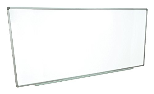 Offex 96 x 40 Inches Universal Dry Erase Classroom Wall Mount Magnetic Whiteboard with Aluminum Frame and Tray (OF-WB9640W)