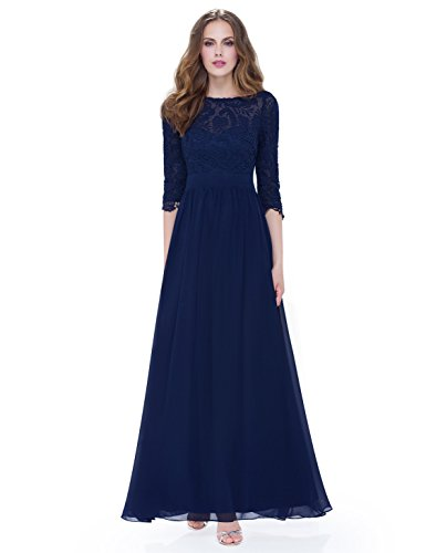 Buy mother of the bride long blue dresses - 1