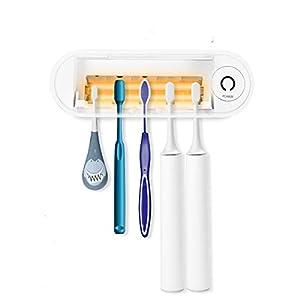 MECO Portacepillo de Dientes Esterilizador UV 5 Minutos con Función de Secado, 5 Puertos Esteriliza Automático Cada 4… 6